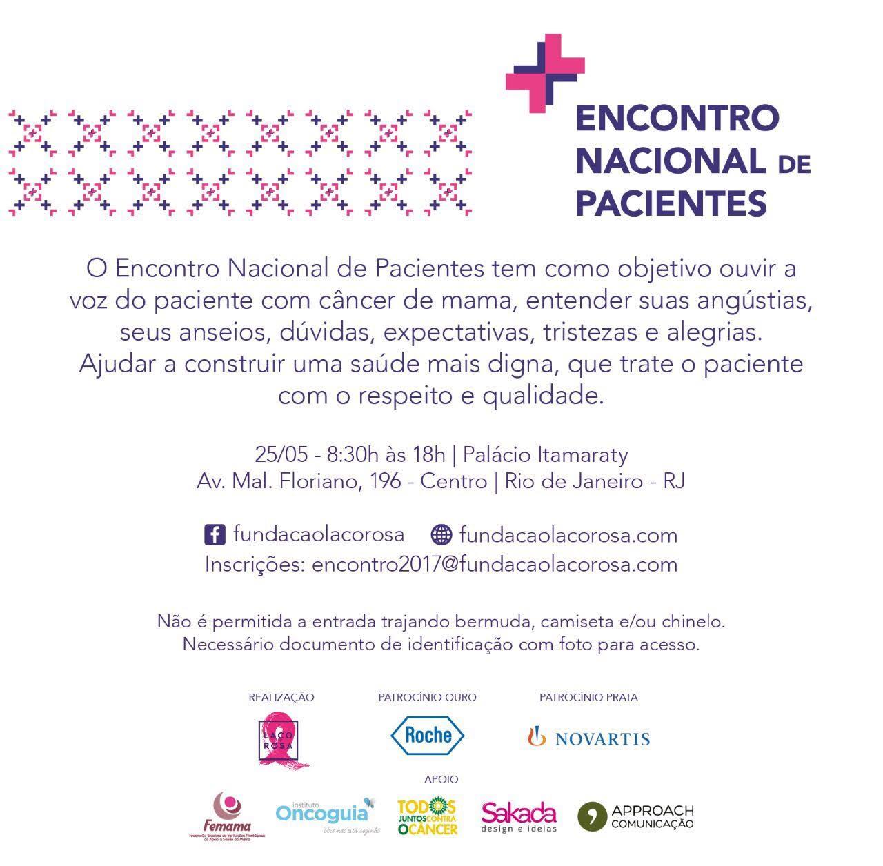 fundacao laco rosa encontro pacientes 2017