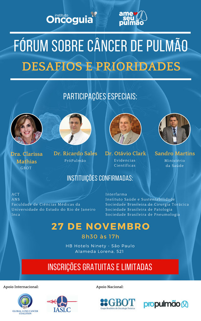 eventos forum oncoguia cancer pulmao