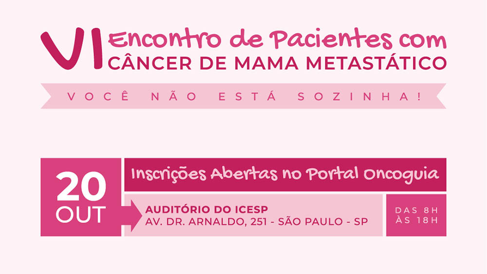 Thumb do VI Encontro de Câncer de Mama Metastático.