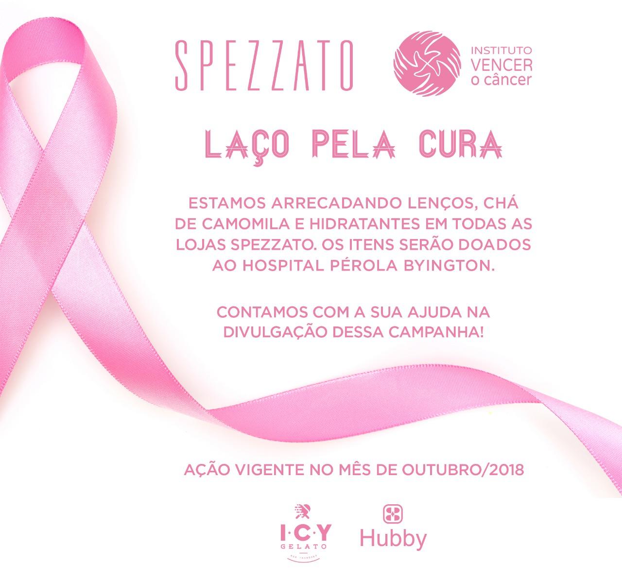 Flyer da campanha IVOC para arrecadação de lenços e hidratantes para pacientes do Hospital Pérola Byington.