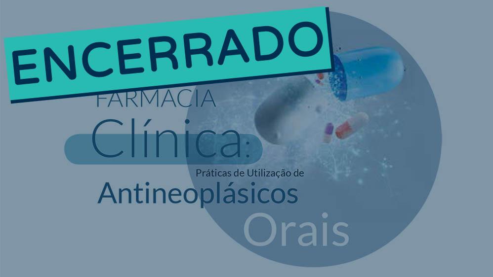 Thumbnail de chamada para workshop sobre antineoplásicos orais 2018 encerrado.