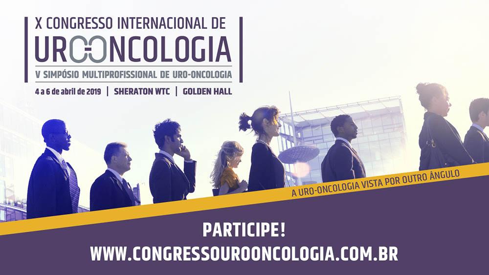 Banner do décimo congresso de uro-oncologia.