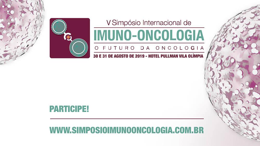 Banner do quinto simpósio de imuno-oncologia.
