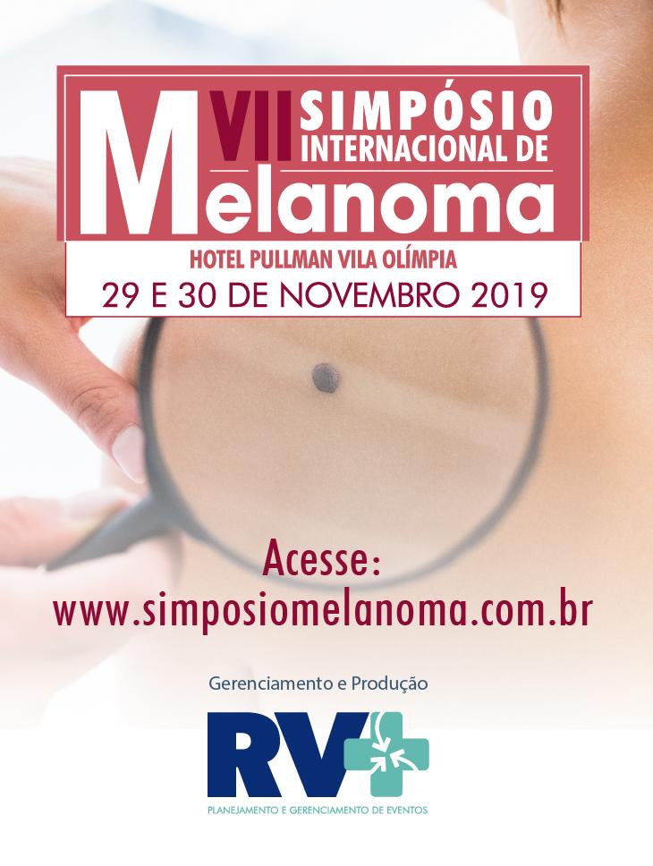Banner do sétimo simpósio internacional de melanoma.