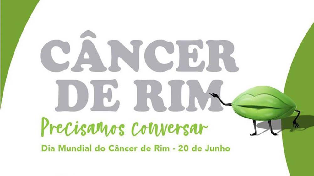 Logo da campanha Green Lips de conscientização do câncer de rim.