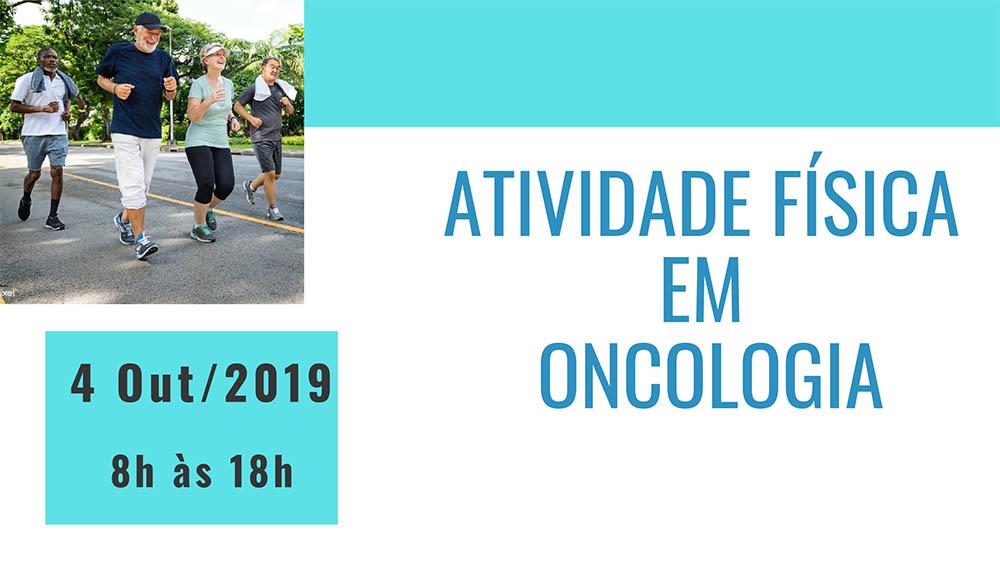 Banner do curso de atividade física em oncologia 2019