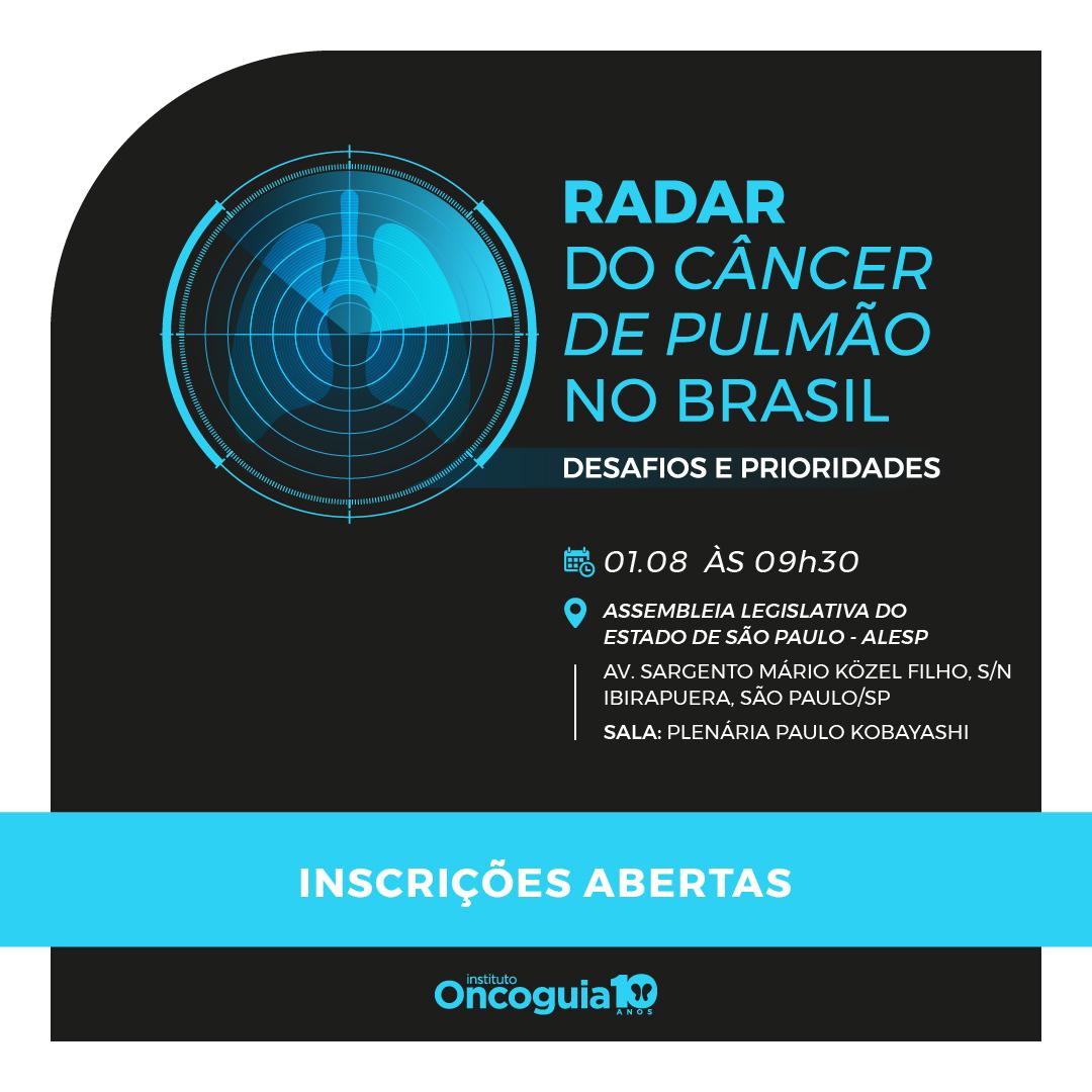 Banner do evento Radar do câncer de pulmão no Brasil 2019.